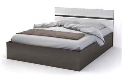 Вегас Кровать 1,6*2,0 Венге/Белый Глянец
