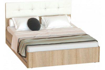 Белладжио КР-05 кровать (без основания) (Дуб сонома/Белый глянец)