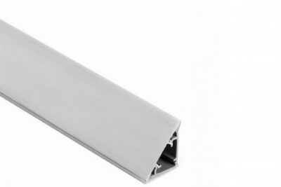 Плинтус плоский алюминиевый LD3302 3,05 м (48/уп)