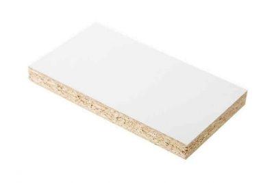 Белый фасадный 0101 PE/2,80 х 2,07 х 10мм /Кроношпан/ ШАГРЕНЬ(25уп)
