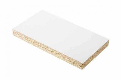 Белый фасадный 0101 PE/2,80 х 2,07 х 22мм /Кроношпан/ ШАГРЕНЬ(20уп)