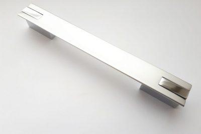 Ручка 0121 K/192  хром/алюминий (240 шт/уп) (K) *** ВЫВОД