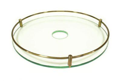 Полка стекл.с рейл.360мм д/тр.50 бронза LS016-42A* под заказ