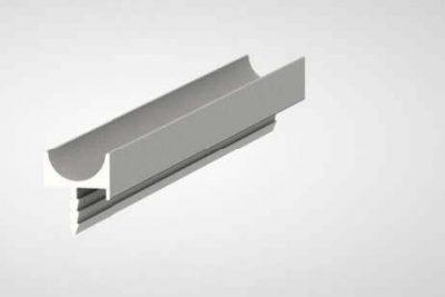 Профиль-ручка 1803 алюминий L-4000 (R)