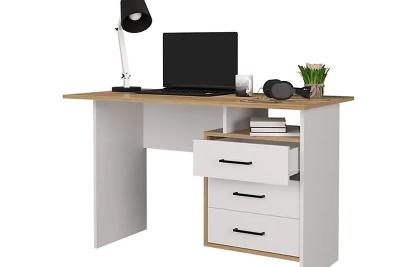 Стол компьютерный Лайт (Белый - Дуб Золото) (Я400-3)