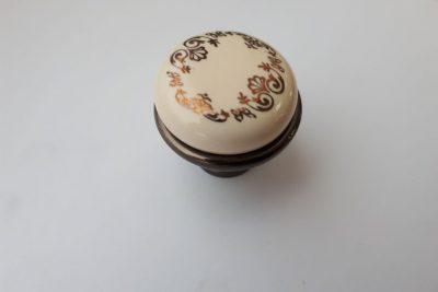 Ручка 978-3-5063F  D27 бронза/золотой орнамент   (R/K) FL