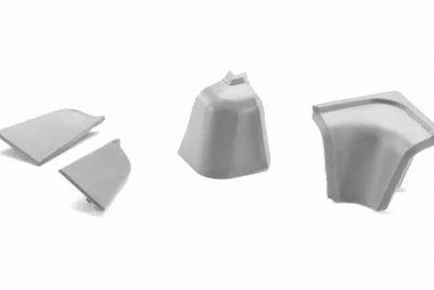 Заглушки для ПЛОСК и ПРОЗРАЧН плинтуса №1 серый
