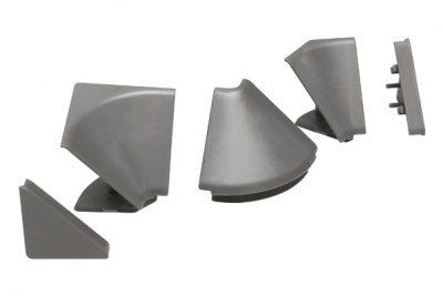 Комплект заглушек для мини-бортика серые  13523391001