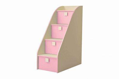 Радуга Лестница комод цвет Фламинго (В 8)