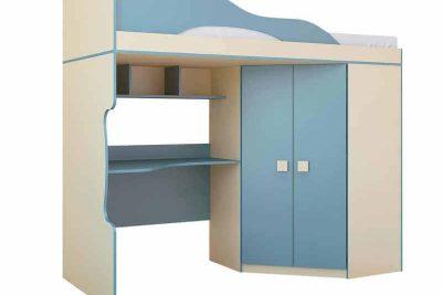 Радуга Кровать 2 этаж + шкаф Василёк (Пу 6)