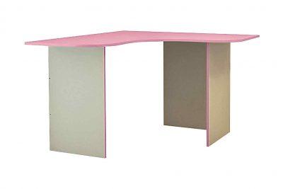 Радуга Стол угловой 1500 цвет Фламинго левый (В)