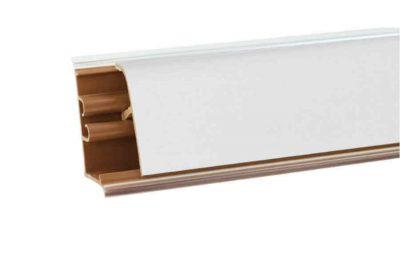 Плинтус Корнер Белый Блеск LB-381-6056 3м  (фурнитура478 )