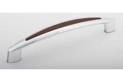 Ручка С2-22.122/128  хром/венге (400/уп)