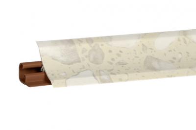 Плинтус Корнер Белые Камушки LB-231-6024 3м (фурнитура 20-23-4-6014)