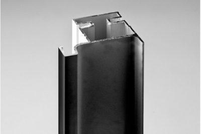 Ручка-профиль вертикальная L, черный матовый  1146L / 4700 / 12099321044