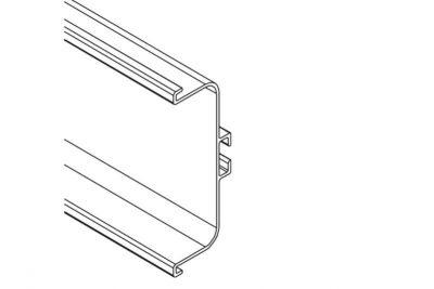 Ручка-профиль горизонтальная C, никель матовый  1538W / 4100 / 12096921110