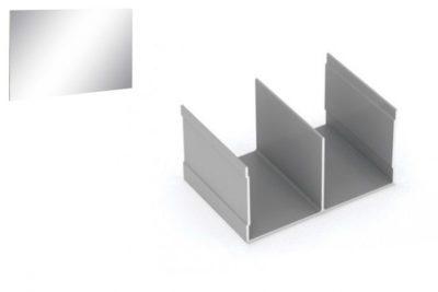 Профиль напр. Ш-образный ЗЕРКАЛО Серебро 2,95