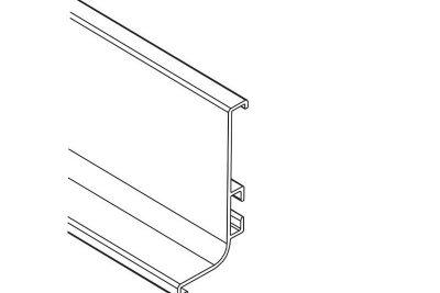 Ручка-профиль горизонтальная L , никель матовый  1538W / 4100 / 12096881110    под заказ
