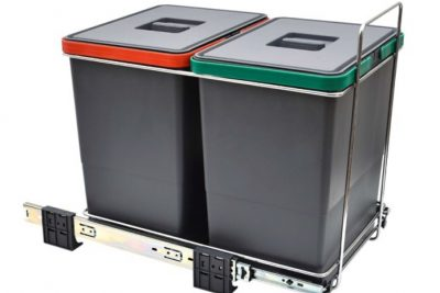 Ведро для мусора двухсекциое 2х18л  AES400218GP