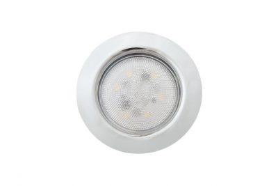 Светильник светодиод FT9228, 4Вт на 220 В (встр. драйвер) хром, теплый свет, SMD 5730 CH3000K