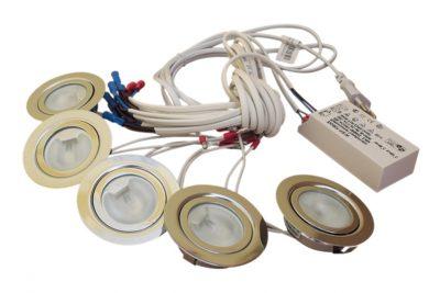 КМС 3*20-05225(3хFT9251зол.+ЕТ190Е+шнур 3 м с выключателем