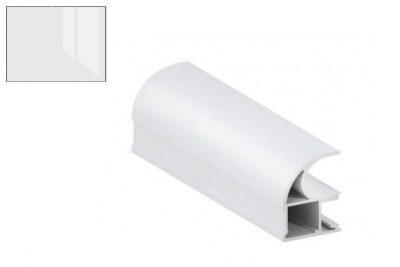 Профиль вертик. ассиметр. Белый глянец 2,7 м