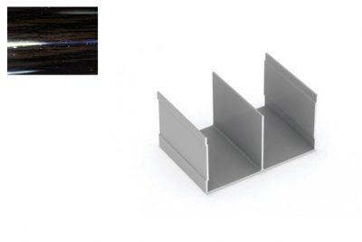 Профиль напр. Ш-образный Венге глянец 2,95 м.
