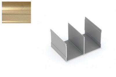 Профиль напр. Ш-образный Декупаж-Золото 2,95 м