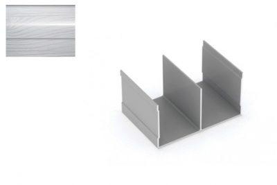 Профиль напр. Ш-образный Декупаж-Серебро 2,95 м