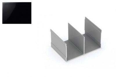 Профиль напр. Ш-образный Черный глянец 2,7 м