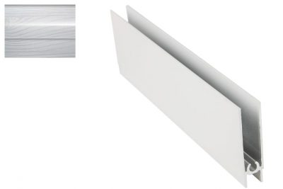 Профиль нижний горизонт. Декупаж-Серебро 2,95 м
