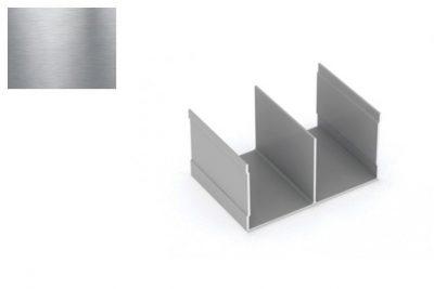 Профиль напр. Ш-образный Серебро Браш 2,95 м *под заказ