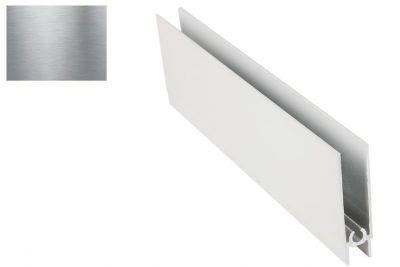 Профиль нижний горизонт. Серебро Браш 2,95 м *под заказ