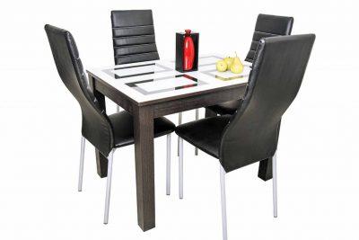 Ривьера -1 Стол обеденный 1000*700 (Сливочный/Венге)
